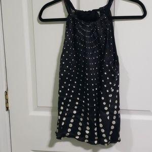 Tahari black blouse
